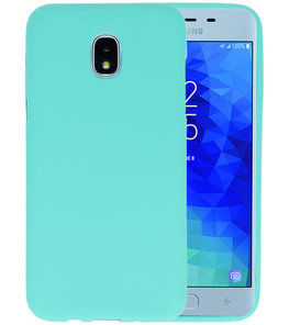 Turquoise Color TPU Hoesje voor Samsung Galaxy J3 2018