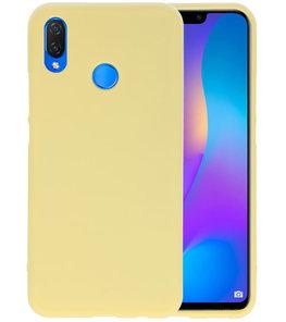 Geel Color TPU Hoesje voor Huawei P Smart Plus