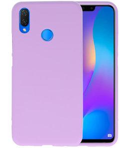 Paars Color TPU Hoesje voor Huawei P Smart Plus