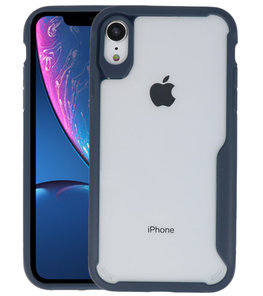 Navy Focus Transparant Hard Cases voor iPhone XR