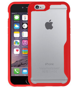 Rood Focus Transparant Hard Cases voor iPhone 6