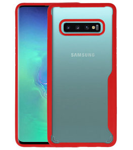 Rood Focus Transparant Hard Cases voor Samsung Galaxy S10 Plus