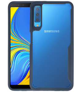 Navy Focus Transparant Hard Cases voor Samsung Galaxy A7 2018