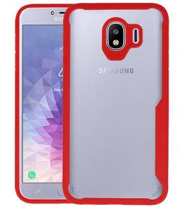 Rood Focus Transparant Hard Cases Samsung Galaxy J4