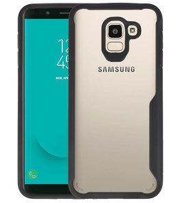 Zwart Focus Transparant Hard Cases Samsung Galaxy J6