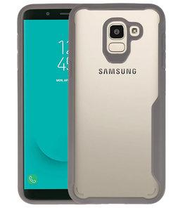 Grijs Focus Transparant Hard Cases Samsung Galaxy J6