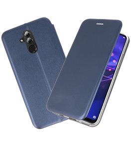Navy Slim Folio Case voor Huawei Mate 20 Lite