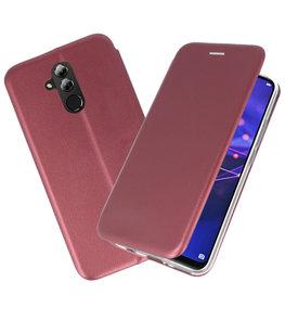 Bordeaux Rood Slim Folio Case voor Huawei Mate 20 Lite