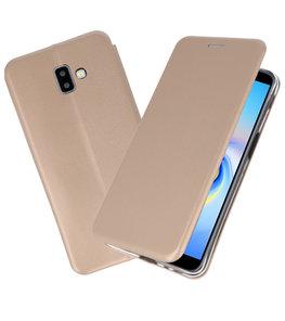 Goud Slim Folio Case voor Samsung Galaxy J6 Plus