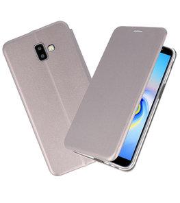 Grijs Slim Folio Case voor Samsung Galaxy J6 Plus