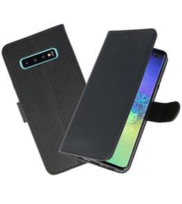 Bookstyle Wallet Cases Hoesje voor Samsung Galaxy S10 Plus Zwart