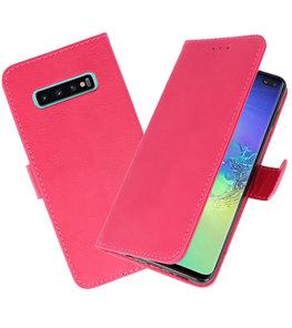Bookstyle Wallet Cases Hoesje voor Samsung Galaxy S10 Plus Roze