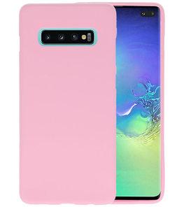 Color TPU Hoesje voor Samsung Galaxy S10 Plus Roze