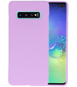 Color TPU Hoesje voor Samsung Galaxy S10 Plus Paars