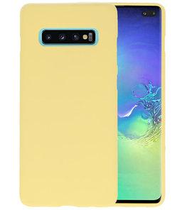Color TPU Hoesje voor Samsung Galaxy S10 Plus Geel