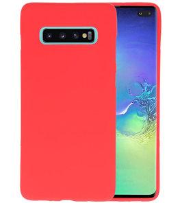 Color TPU Hoesje voor Samsung Galaxy S10 Plus Rood