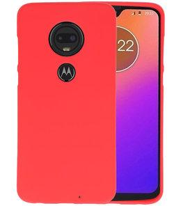 Color TPU Hoesje voor Motorola Moto G7 Rood