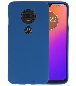 Color TPU Hoesje voor Motorola Moto G7 Navy