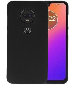 Color TPU Hoesje voor Motorola Moto G7 Zwart