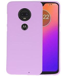 Color TPU Hoesje voor Motorola Moto G7 Paars