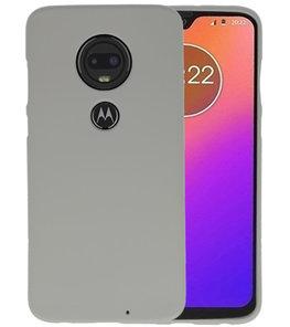 Color TPU Hoesje voor Motorola Moto G7 Grijs