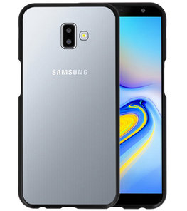 Magnetic Back Cover voor Galaxy J6 Plus Zwart - Transparant