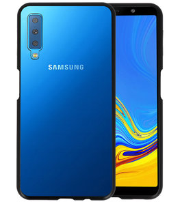 Magnetic Back Cover voor Galaxy A7 2018 Zwart - Transparant
