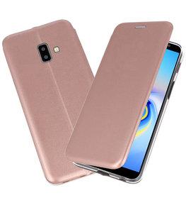 Roze Slim Folio Case voor Samsung Galaxy J6 Plus