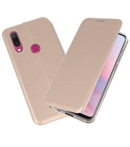 Slim Folio Case voor Huawei Y9 2019 Goud