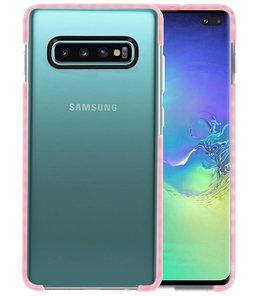 Armor TPU Hoesje voor Samsung Galaxy S10 Plus Transparant / Roze