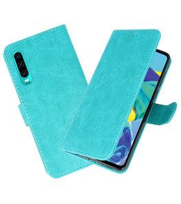 Bookstyle Wallet Cases Hoesje voor Huawei P30 Groen