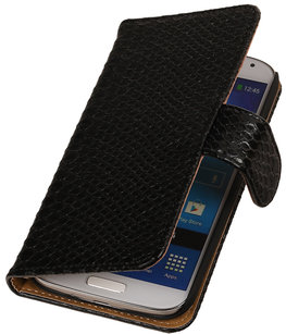 BC Slang Zwart Hoesje voor Samsung Galaxy S Duos 3 Bookcase Cover