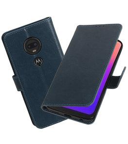 Motief Bookstyle Hoesje voor Motorola Moto G7 Blauw