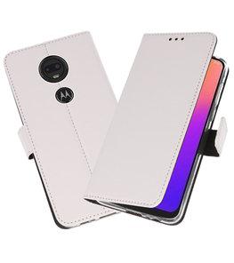 Booktype Wallet Cases Hoesje voor Motorola Moto G7 / G7 Plus Wit