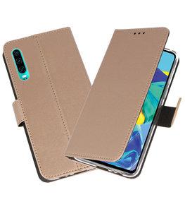 Booktype Wallet Cases Hoesje voor Huawei P30 Goud