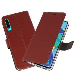 Booktype Wallet Cases Hoesje voor Huawei P30 Bruin