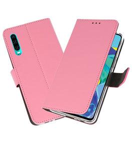 Booktype Wallet Cases Hoesje voor Huawei P30 Roze