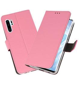 Booktype Wallet Cases Hoesje voor Huawei P30 Pro Roze