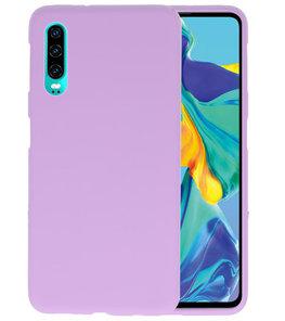 Color TPU Hoesje voor Huawei P30 Paars