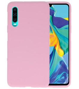 Color TPU Hoesje voor Huawei P30 Roze