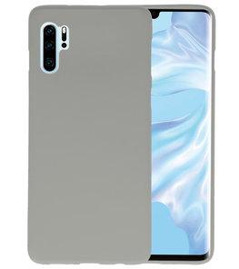 Color TPU Hoesje voor Huawei P30 Pro Grijs