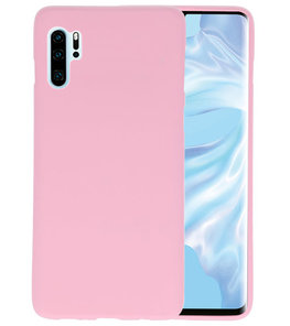 Color TPU Hoesje voor Huawei P30 Pro Roze