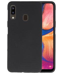 Color TPU Hoesje voor Samsung Galaxy A20 Zwart
