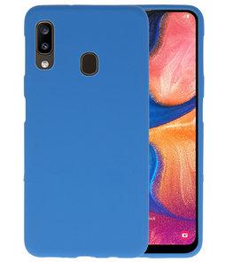 Color TPU Hoesje voor Samsung Galaxy A20 Navy
