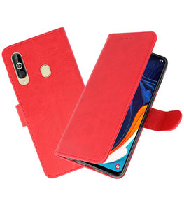 Bookstyle Wallet Cases Hoesje voor Samsung Galaxy A60 Rood
