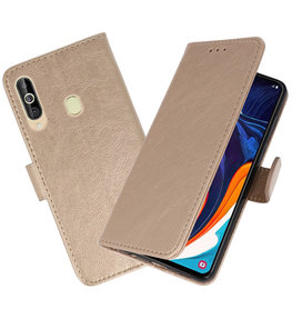 Bookstyle Wallet Cases Hoesje voor Samsung Galaxy A60 Goud
