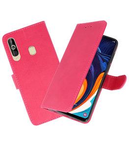 Bookstyle Wallet Cases Hoesje voor Samsung Galaxy A60 Roze
