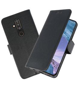 Bookstyle Wallet Cases Hoesje voor Nokia X71 Zwart