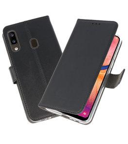 Wallet Cases Hoesje voor Samsung Galaxy A20 Zwart