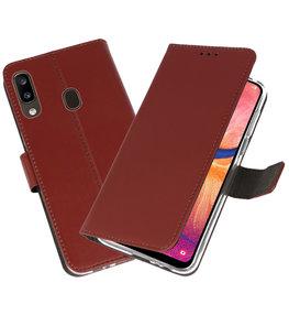 Wallet Cases Hoesje voor Samsung Galaxy A20 Bruin